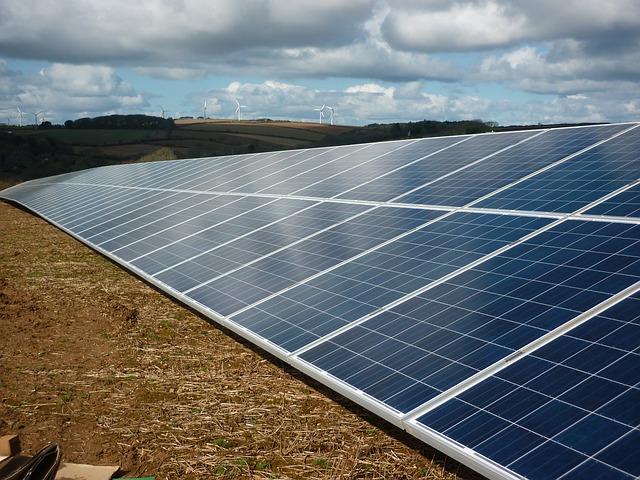 Community Solar Garden with solar panels