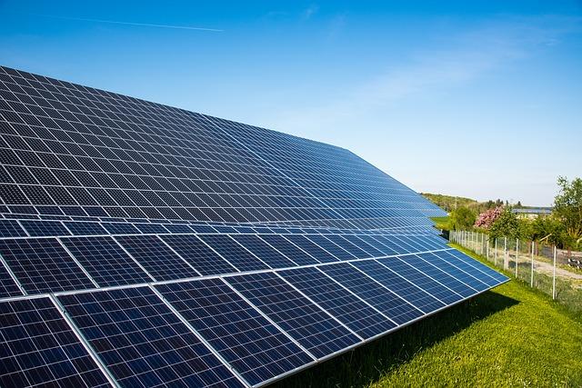 solar cells at Choose Solar farm