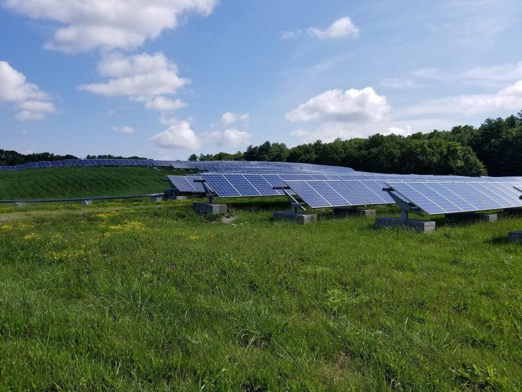Solar Farm in large field