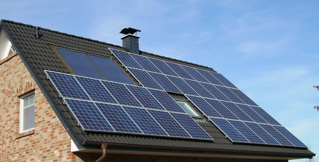 solar panels on a roof from Choose Solar