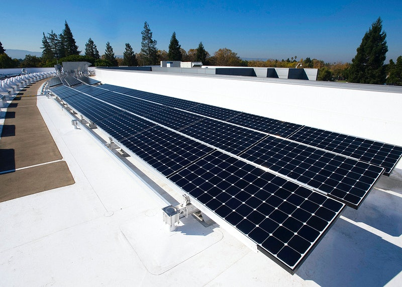 solar panel arc on roof